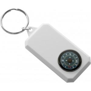Kulcstartó, iránytűvel, műanyag